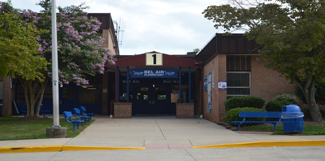 front entrance of the school